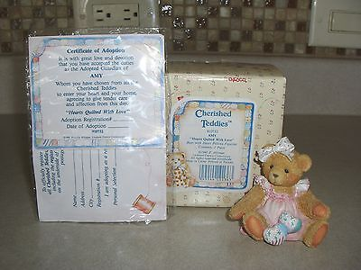 Cherished Teddies, 910732, Amy, Hearts Quilted With Love, Mib