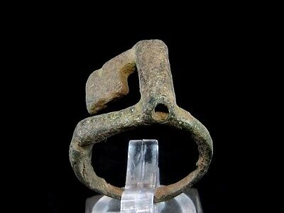 Superb Roman Bronze Key Ring, As Found Condition+++