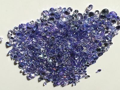 5 CARATS TANZANITE FACETED GEMSTONE LOT natural quality EARTH MINED MIX 2.5-5mm