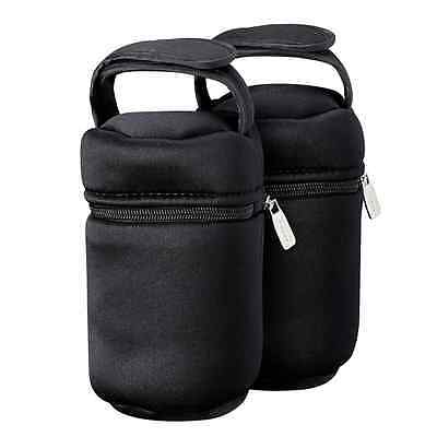 Tommee Tippee Insulated Bottle Bag-2-Pack, Black