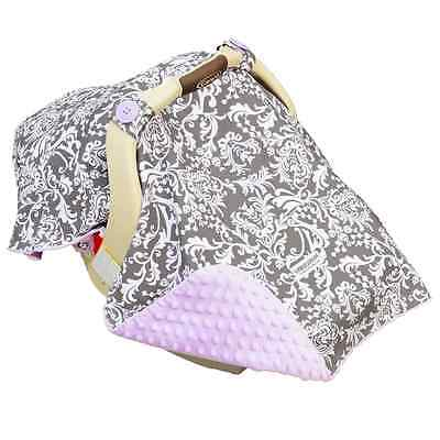 Carseat Canopy Car Seat-Canopy Belle, Pink/Grey
