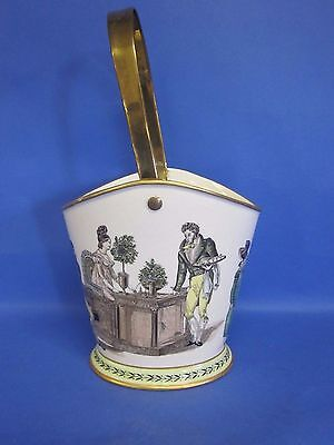 Vintage A Mottahedeh design S. 5418 Bucket with Gold Tone Handle