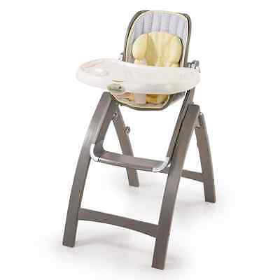 Summer Infant, Inc. Summer Infant Bentwood High Chair Chevron Leaf, Grey