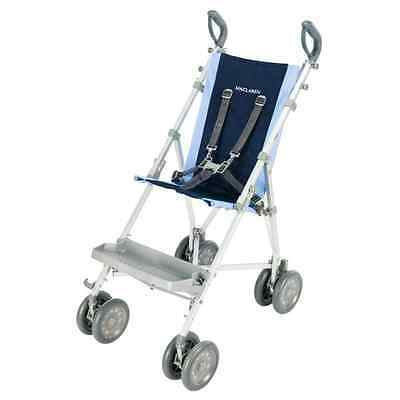 Maclaren Major Elite Transport Chair, Soft Blue/Navy