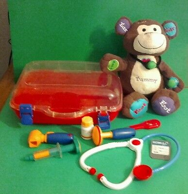 Dr. Monkey talking toy  with Toys 'R' Us Dr.jr medical kit -educational toys
