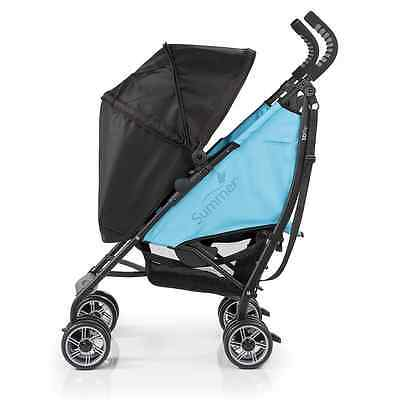 Summer Infant 3D Flip Convenience Stroller, Black/Blue