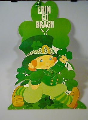 Rare Large St. Patrick's Day Wall Decoration Cardboard Cutout Classroom Party
