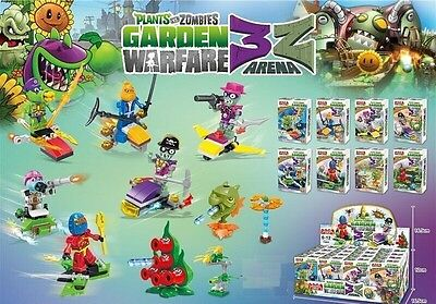 Lot of 8 Plants VS Zombies minifigures Fits lEgO Building toys with tracking