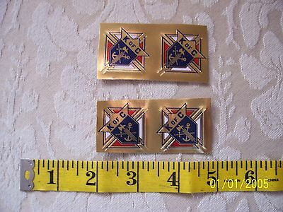 KNIGHTS OF COLUMBUS - 3rd Degree Gold Foil STICKER 1 inch Count 4
