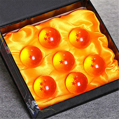 NEW 7Pcs JP Anime DragonBall Z Stars Crystal Ball Set in Box Package Collection