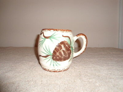 Clinchfield Artware Pottery Cup Hand Painted Erwin Tennessee