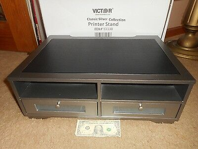 Victor Printer Stand Classic Silver Collection 2 Drawers