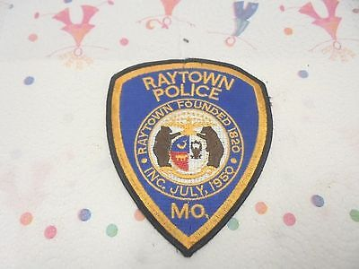 vintage police patch raytown missouri founded 1820