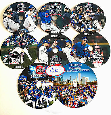 World Series 2016  Chicago Cubs vs. Cleveland Indians Games 1-7 DVD with Artwork