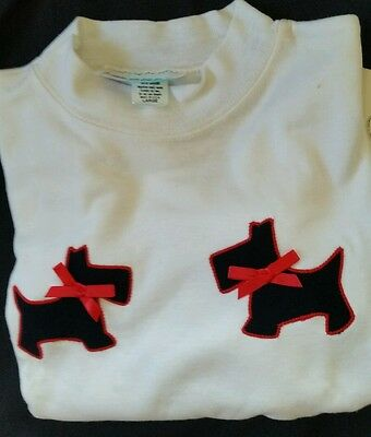 Vintage Long Sleeve Toddler - Scottie With Bow - Sweater -  Sz 4 T -  New - L@@k