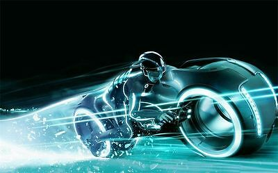 "TRON legacy wallpaper motorcycle archives Movie Art Silk Decor Poster 36x24"" 049"