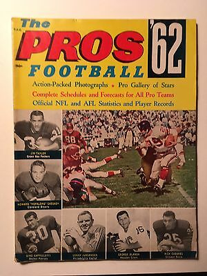 1962 The Pros Football Magazine. NFL & AFL Yearbook. Stats and Records.