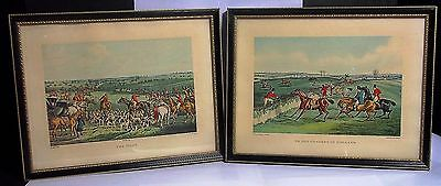 H. Alken Prints, Two Framed Prints - To The Craners of England & The Meet