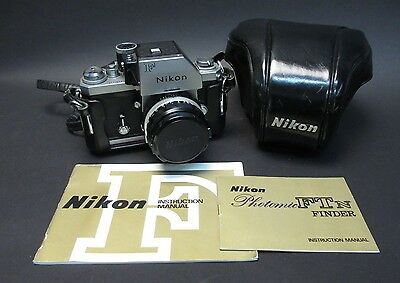 Vintage Nikon F Camera with Nikkor-H.C Auto 1:2 f=50mm Lens