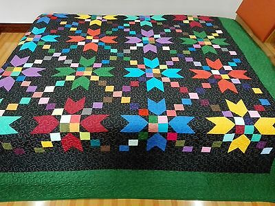 King size  machine pieced and quilted quilt #62AK