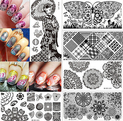 New Nail Art Stamping Image Plates Stainless Steel Template Tool DIY Manicure