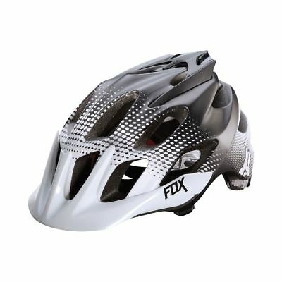 Fox Flux Race MTB Bike Helmet - White and Black Bike Helmet - Various Sizes