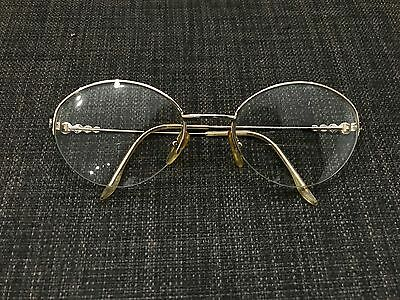 Vintage Metal Christian Dior Gold and Circles Glasses