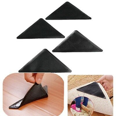 Hot Sale 4 RUGGIES RUG CARPET MAT GRIPPERS NON SLIP SKID REUSABLE WASHABLE GRIPS