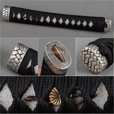 Real Rayskin Black high-grade Tsuka Handle for Japanese Samurai Katana sword