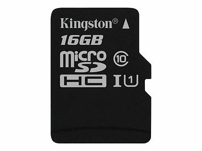 Kingston Shock-proof, Waterproof 16GB microSDHC UHS-I Memory Card SDC10G2/16GBSP
