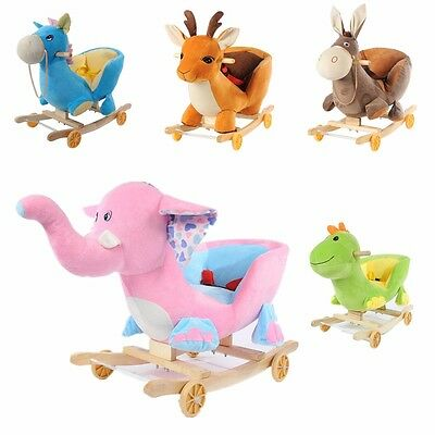 5 Baby Infant Kids Animal Character Rockers With Rocking Nursery Rhymes Rocking