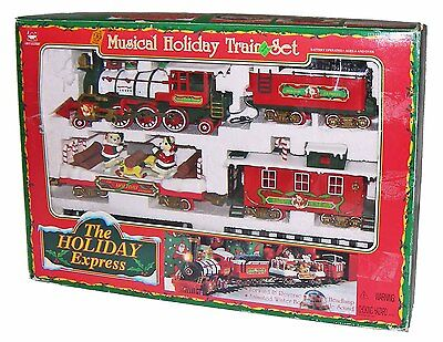 ➤Vintage New Bright Holiday Express Musical Christmas Train Set! Battery,G-Scale