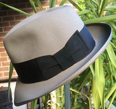 Mens Sz 7 1/4 Richman Brothers Stingy Brim Fedora Hat - Early 60s Rat Pack