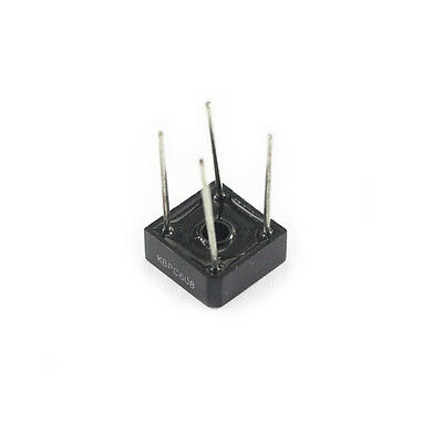 10pcs KBPC608 KBPC-608 6A 800V Single Phases Diode Rectifier Bridge Single 4pin
