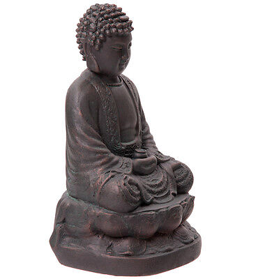 Large Garden Ornament Bronze Effect Buddha Statue Figure Feature Buddah Oriental
