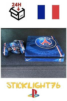 skin cover psg paris  ps4 slim controller manette ps4 sony playstation stickers