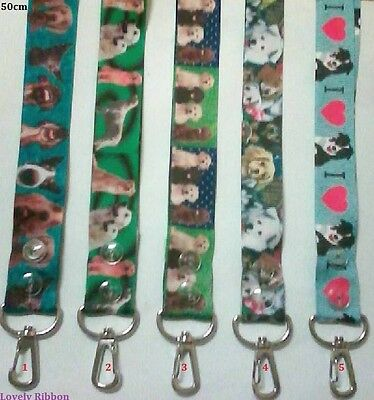 1 x DOG LANYARD, Hand Made, 50cm, Grosgrain, Ribbon, Id Holder, Pass, Gocard