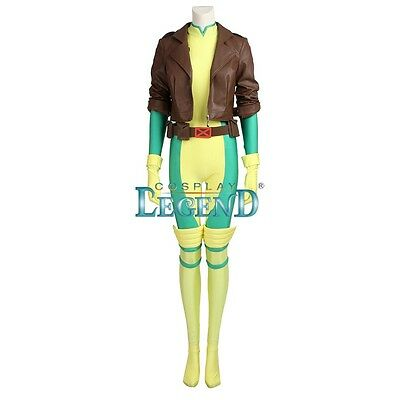 Original X-men Rogue Cosplay Costume Jumpsuit Cos Coat Custom Size
