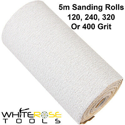 Silverline 5m Stearated Aluminium Oxide Sanding Roll 120-400 Grit Abrasive