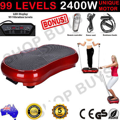 2400 W Ultra Slim Vibration Machine Plate Platform Body Shaper Exercise Fitness