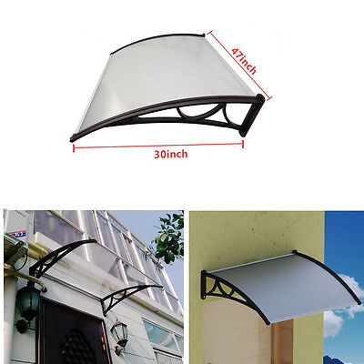 Door Canopy Patio Cover Front Back Solid Roof Porch Outdoor Awning Shelter Shade