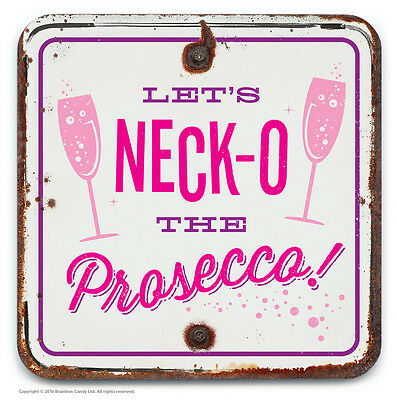 Brainbox Candy novelty prosecco beer drinks mat coaster funny cheap present gift