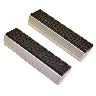 "Magnetic Bench or Drill Vice Soft Jaws Engineers Rubber Grips 100mm (4"") Sil118"