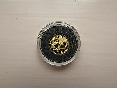 1/20 Th Oz Gold Panda 2005 With Cert