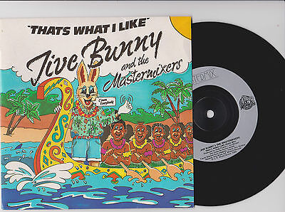 """JIVE BUNNY & the MASTERMIXERS ~ That's what I like  ~ 7""""  1989 EXC"""