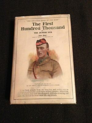 The First Hundred Thousand Ian Hay Beith British 1916 WWI trench warfare signed