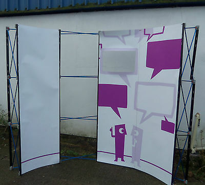Used large Emblem Curved exhibition display