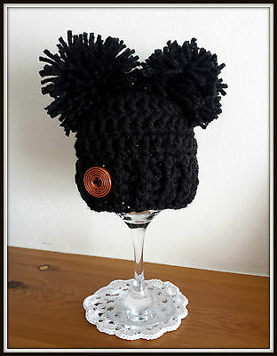 Crochet BABY POM POM HAT  ,GIFT ,PHOTO PROP  baby limited quantity