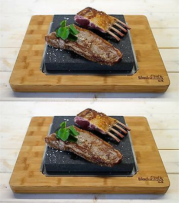 Steak Stone Lava Rock Cooking Black Rock Grill Hot Stone Set For Two HO-3627