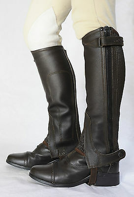 Just Chaps Adult Leather Riding Half Chaps 15% OFF black & brown All sizes